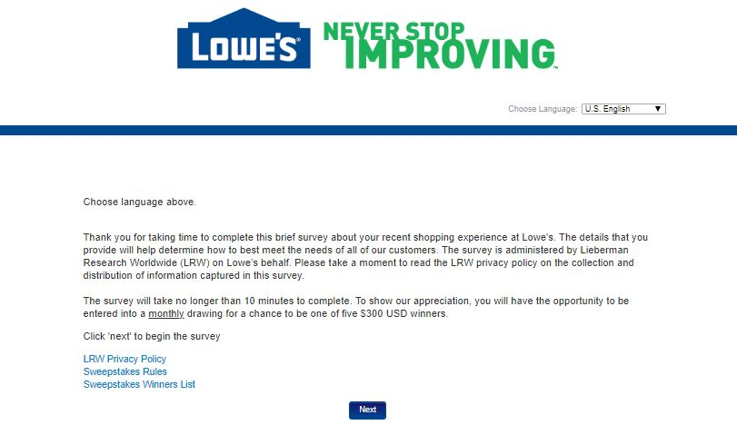 Lowes Survey Step By Step Guide