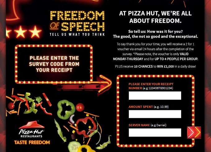 Pizza Hut UK Survey Step By Step Guide