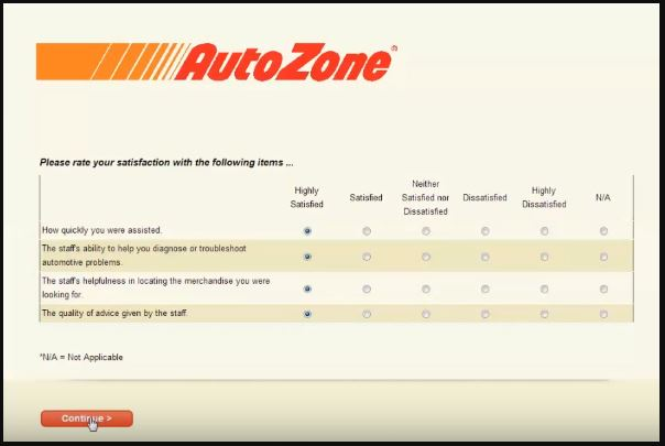 Autozone Customer Satisfaction Survey 5