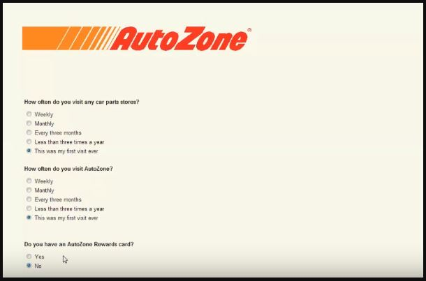 Autozone Customer Satisfaction Survey 6