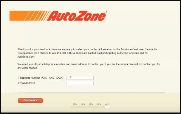 Autozone Customer Satisfaction Survey 7