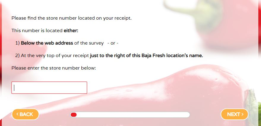 Baja Fresh Survey at www bajafreshsurvey com Step By Step Guide 2