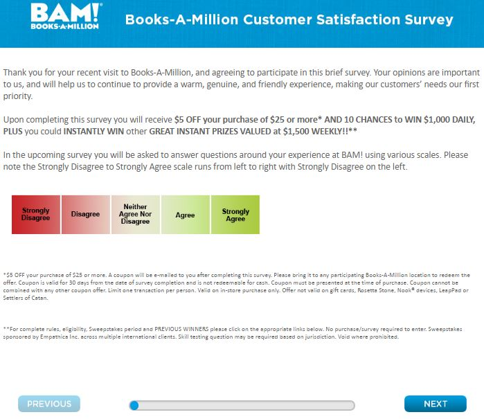 Books-A-Million Customer Satisfaction Survey guide