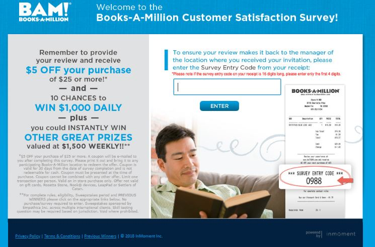 Books-A-Million Customer feedback Survey guide