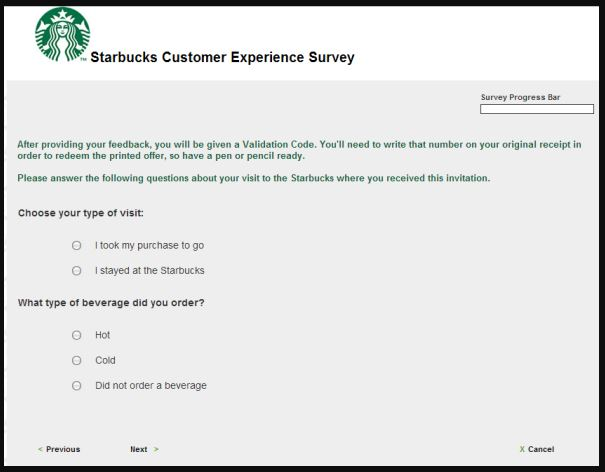 Starbucks Customer Satisfaction Survey guide 3