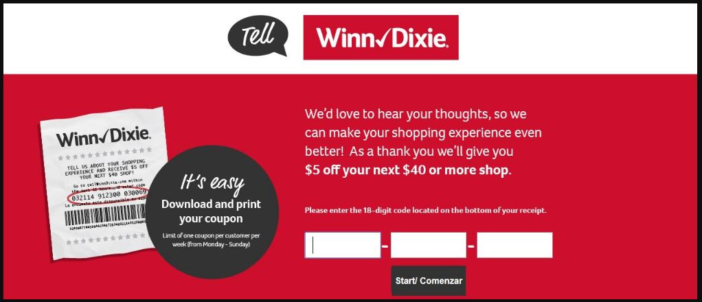 Winn Dixie Customer Experience Survey