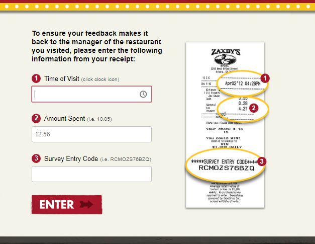 Zaxbys Survey Step By Step Guide