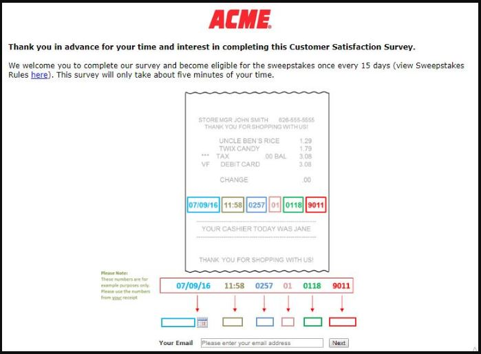 ACME Customer Satisfaction Survey guide 2