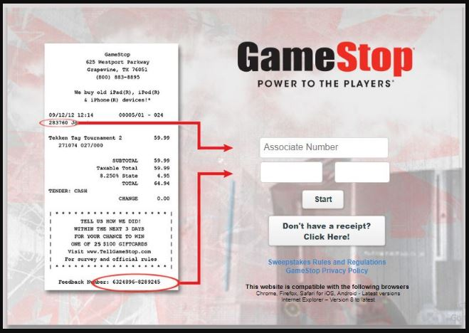 Gamestop survey