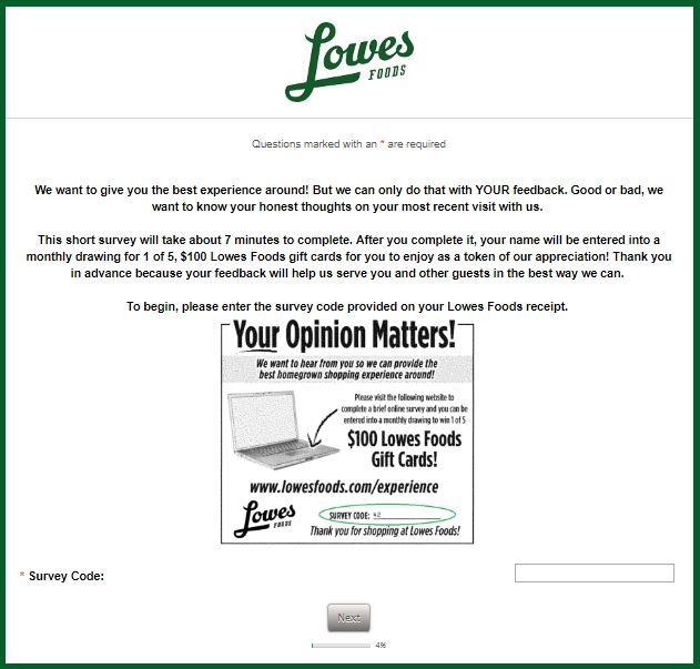 Lowes Foods Survey Step By Step Guide