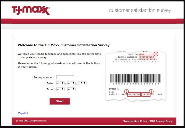 T.J.Maxx Feedback Survey guide 1